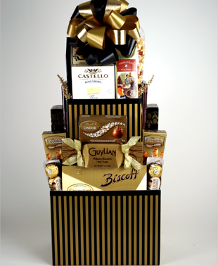 Gourmet Tower Gift Basket