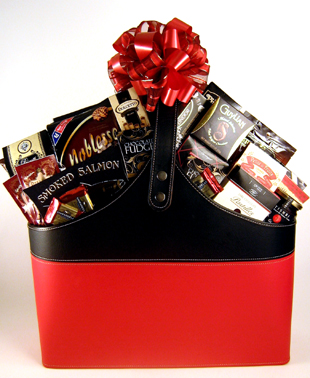 Magazine Tote Gift Basket Deluxe