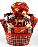 Plaid Tidings Gift Basket